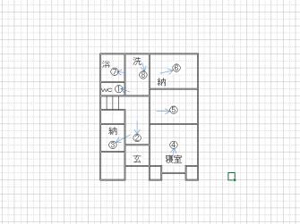 床下状況平面図1
