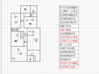 床下状況平面図2