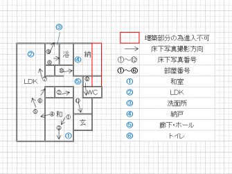 床下状況平面図3